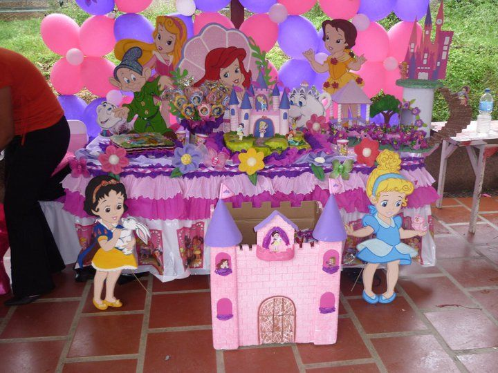 Kumple 1 a o ni a y bautizo baby - Fiestas de cumpleanos de princesas ...