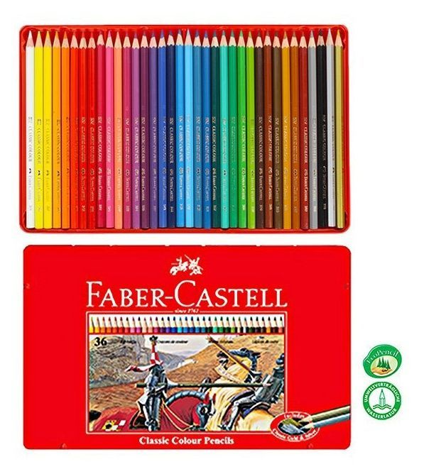 Details About Faber Castell 36 Classic Colour Pencil 36 Colors Tin