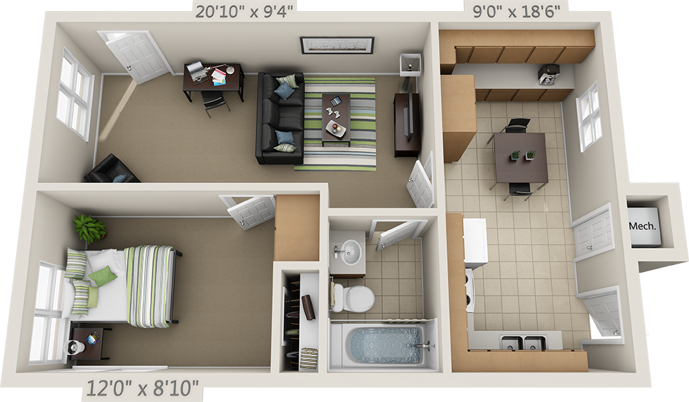 Floor Plans College Park Apartments Home Building Design Sims House Design Small Apartment Plans