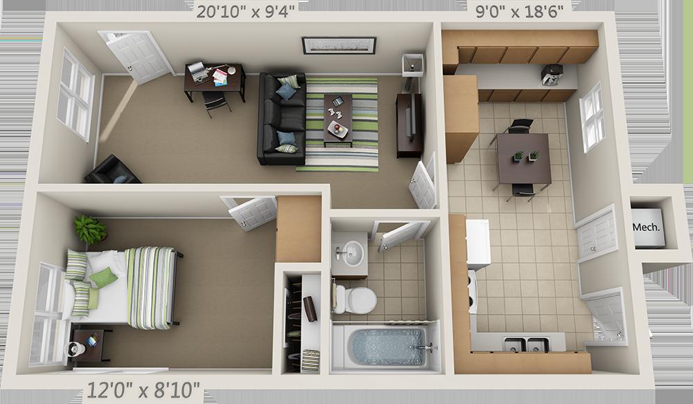 Floor Plans College Park Apartments Apartment Layout Interior