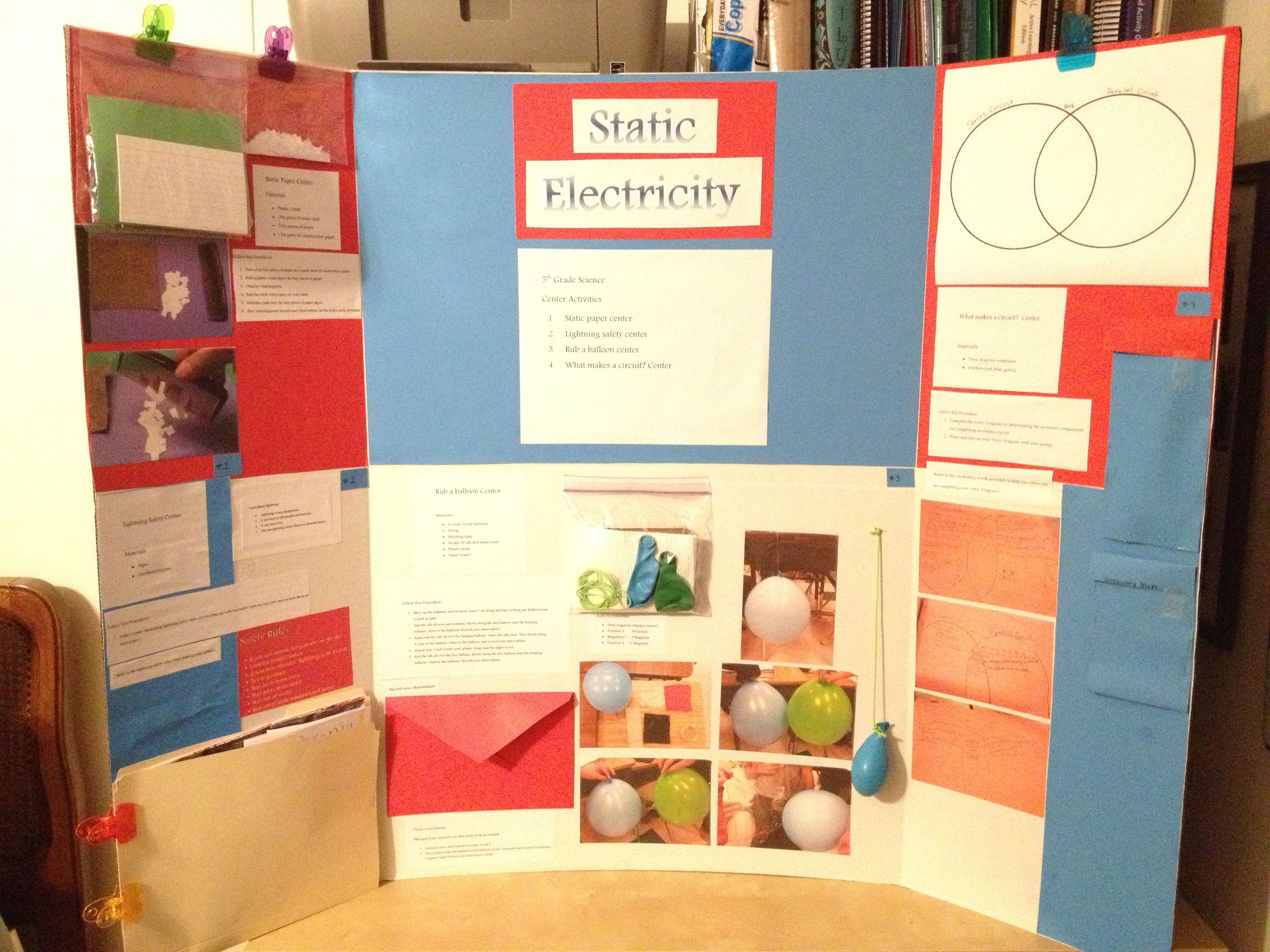 Static Electricity 5th Grade Science Center Activities