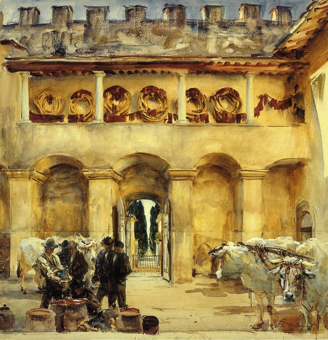 Florence: Torre Galli (1910) by John Singer Sargent (Museum of Fine Arts, Boston, Mass) (Viewed as part of the John SInger Sargent Watercolors exhibit 2014)