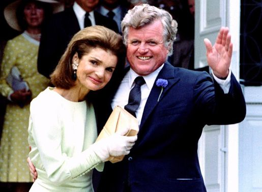 Jacqueline Kennedy Onassis, JFK's widow, with Teddy in 1986.
