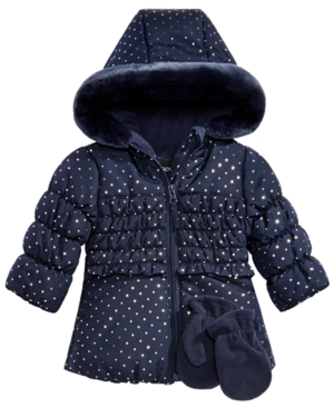8dc229903f33 S Rothschild   Co Baby Girls 2-Pc. Floral-Print Hooded Jacket ...