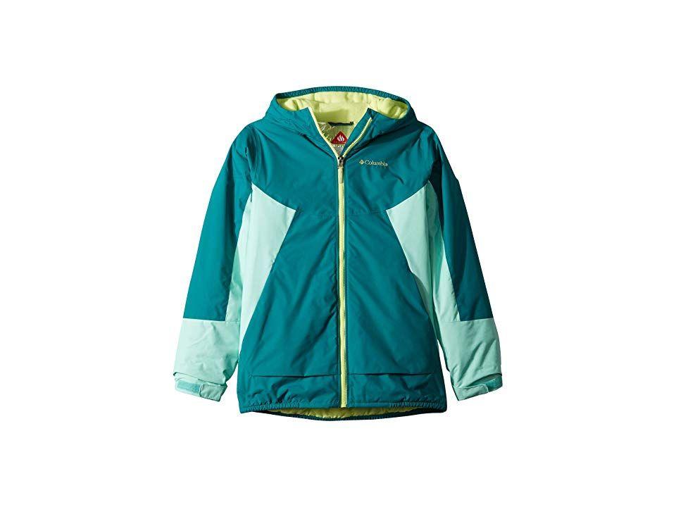 05200ca16 Columbia Kids Snow Problemtm Jacket (Little Kids Big Kids) (Emerald ...