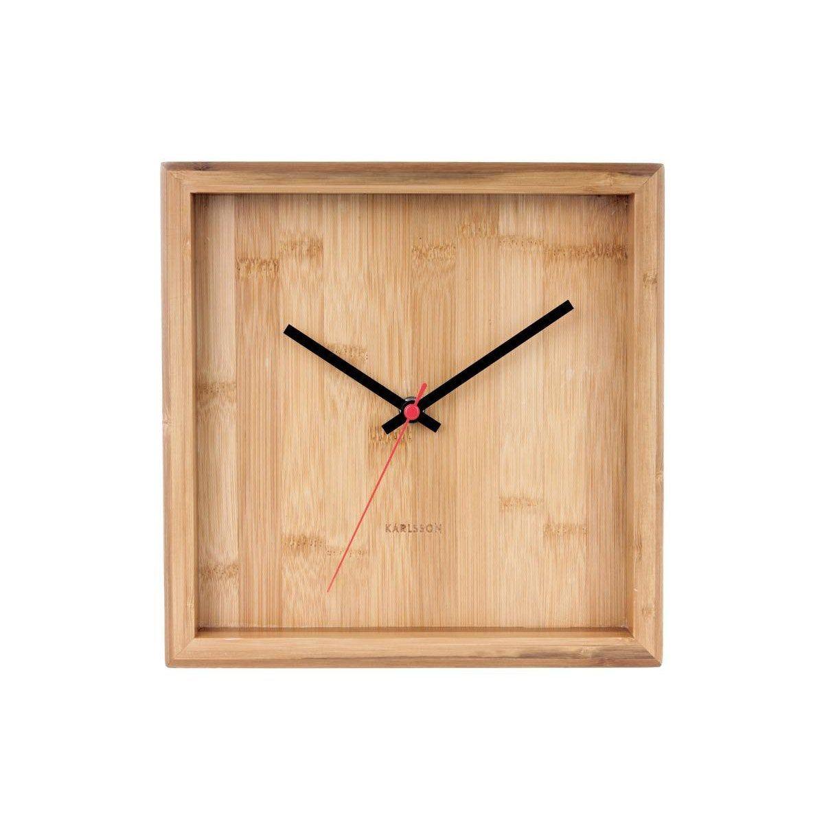 Horloge Franky Carrée Bambou Naturel Karlsson L25 X H25