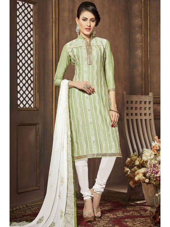 Radiant Mint Green and White Salwar Kameez | Designer Salwar Kameez ...