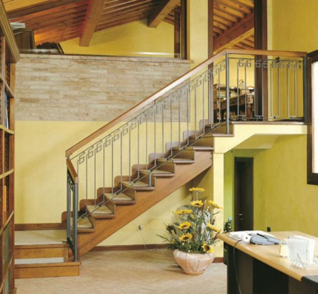 Lshaped stairs and open second floor Stairs design