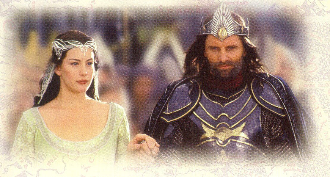 Aragorn and arwen wedding think only!