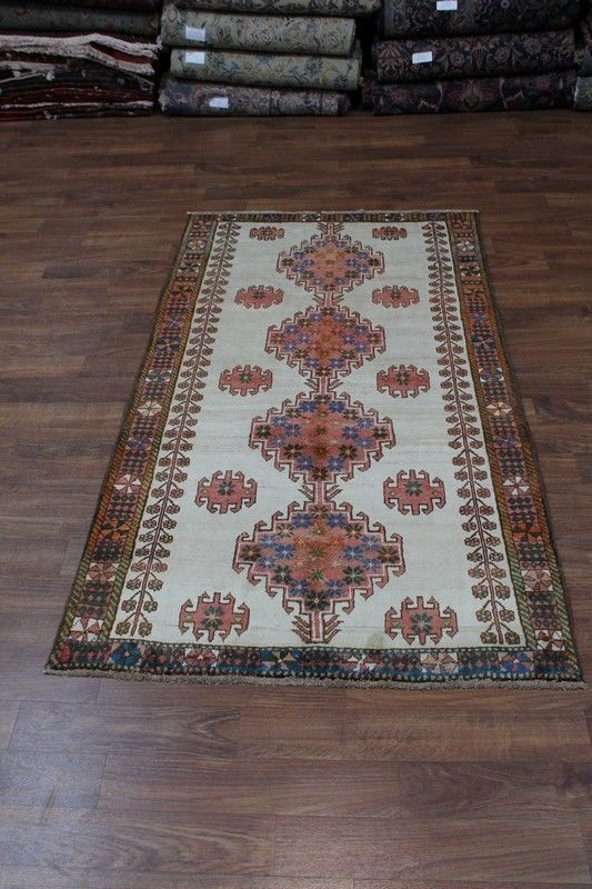 Gorgeous Hand Knotted Light Shiraz Wool Persian Rug Oriental Area Carpet 4x8 Persian Rug Rugs Oriental Rug