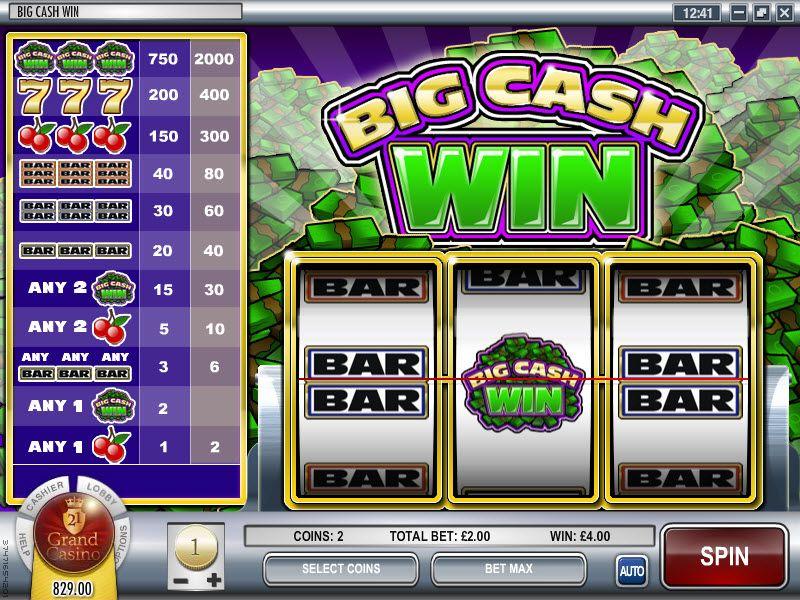 Big cash win slot review bonuses rival casinos http