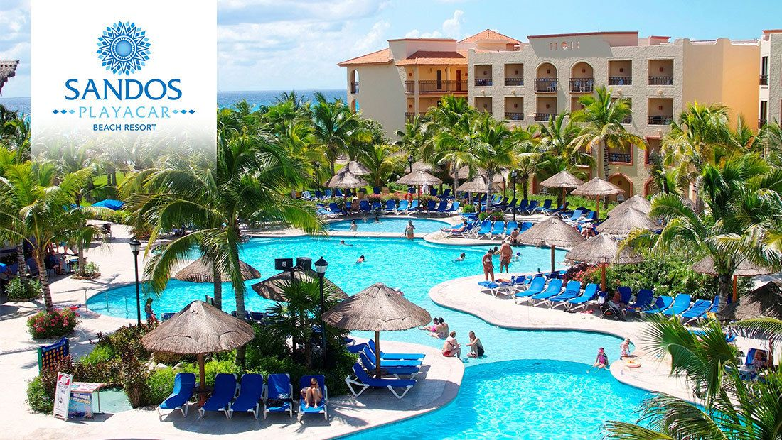 Sandos Playacar Beach Resort All Inclusive Has Been Chosen As One Of The Bookit Top Ten Summer Collection Riviera Maya Resorts