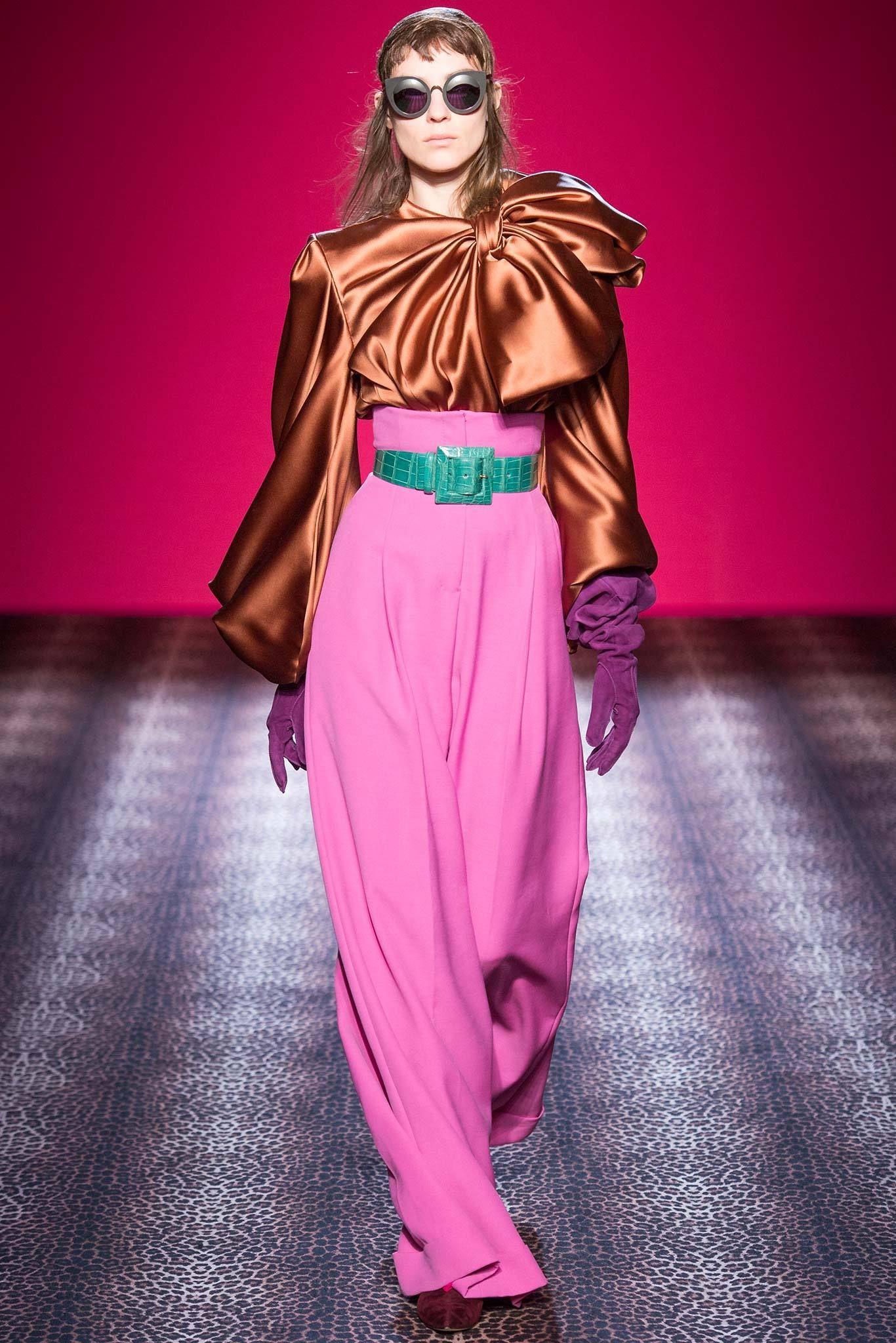 Kati Nascher at Schiaparelli Haute Couture Fall 2014.