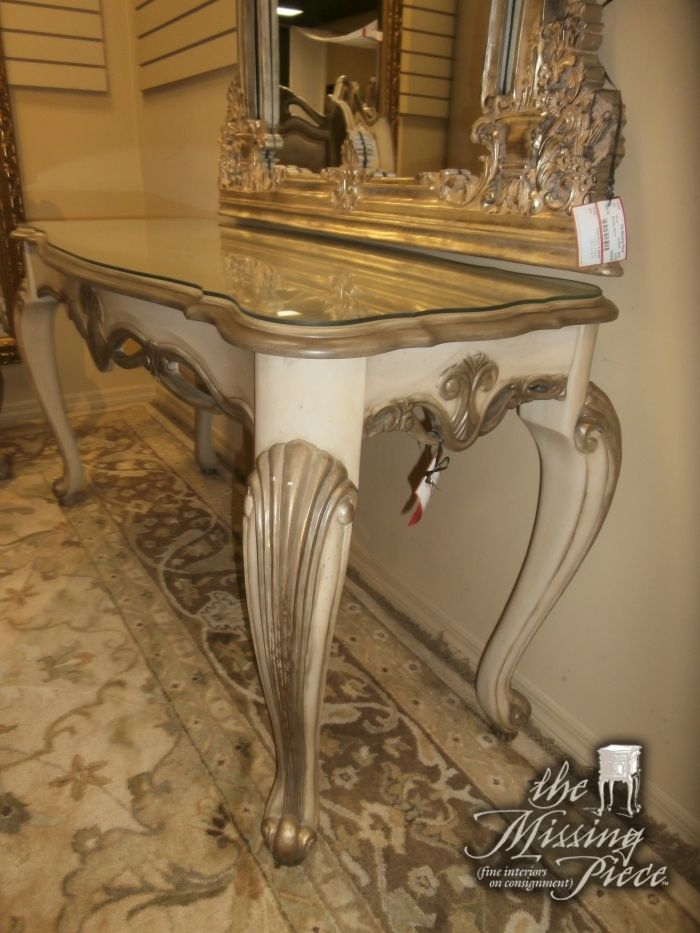 AICO Console Table Rich And Timeless, Reminiscent Perhaps Of Furniture  Handed Down Through The Generations