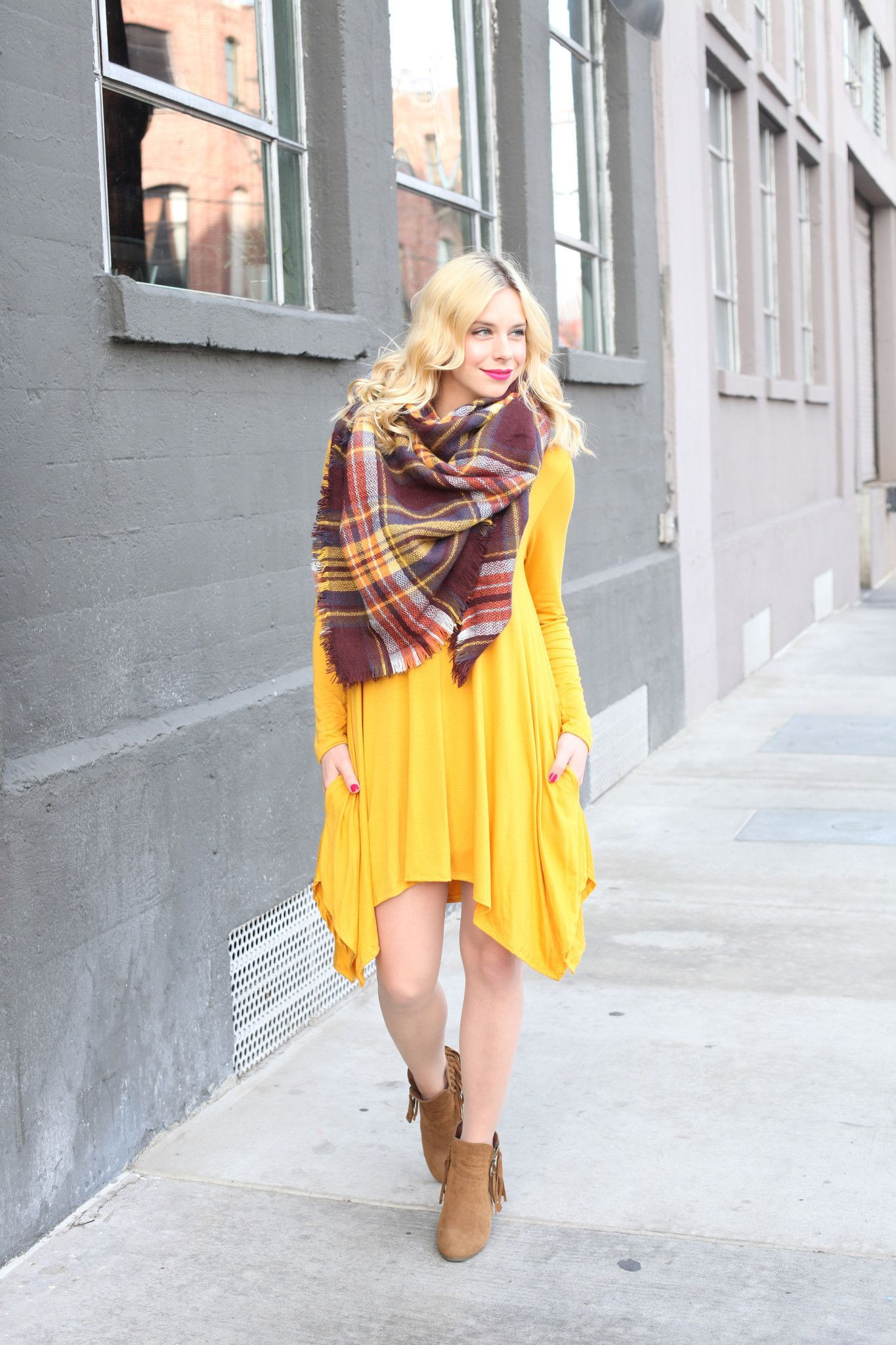All about that Sass Hi-Low Dress in Mustard (Pre-Order Ship Date on or before Dec. 20th)