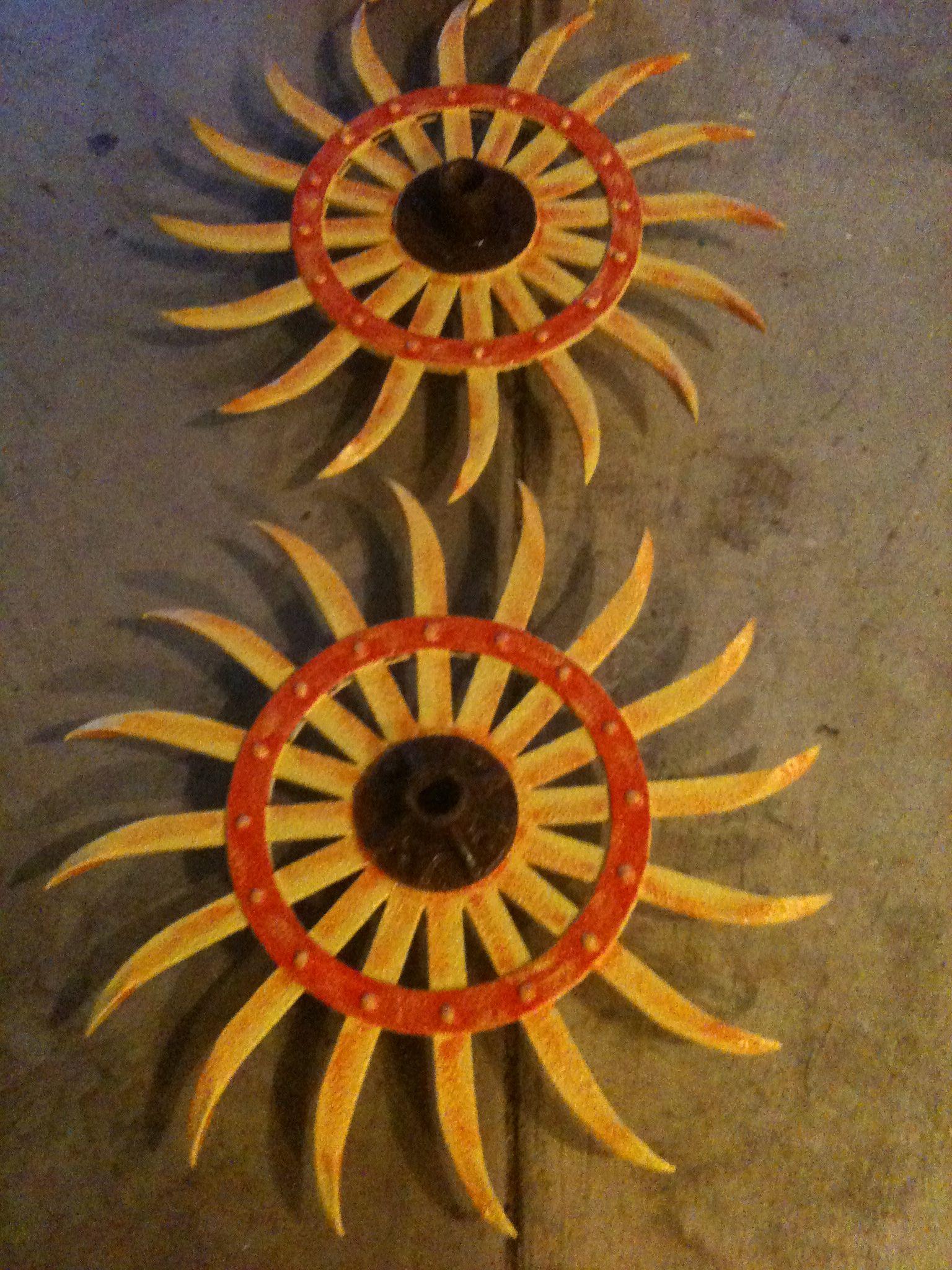 Sunflowers on a rotary hoe | Art | Pinterest | Hoe, Sunflowers and on