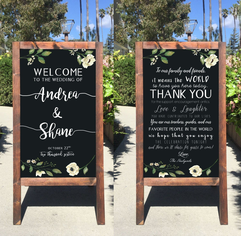 Wedding Chalkboard: Welcome Wedding Chalkboard Sign