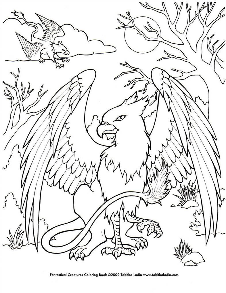 Griffin Coloring Page By Tablynn Dragon Coloring Page Coloring