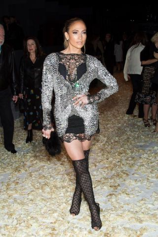 See all the star-studded arrivals at Tom Ford's Fall 2015 show: Jennifer Lopez