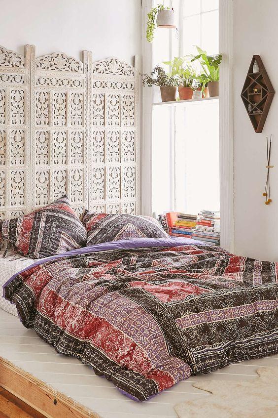 Creative Headboard Alternatives Bohemian Style Bedroom Design Urban Bedroom Bedroom Styles