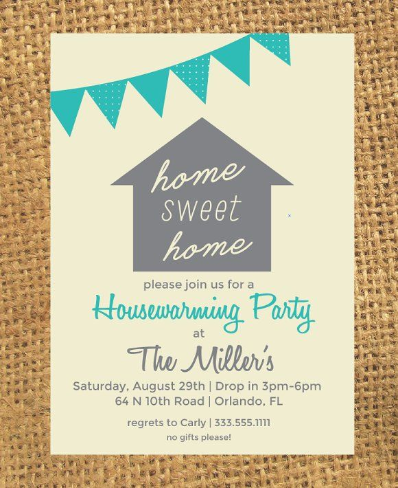 Housewarming Invitation  House And Room