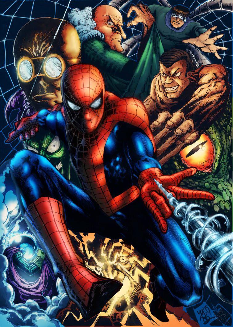 Spiderman Villains By Pjbhavsar Coloring By Royhobbitz Spiderman Marvel Comics Wallpaper Amazing Spiderman