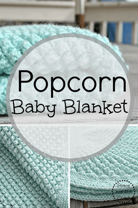 An adorable popcorn baby blanket pattern | Manta, Sencillo y Bebé