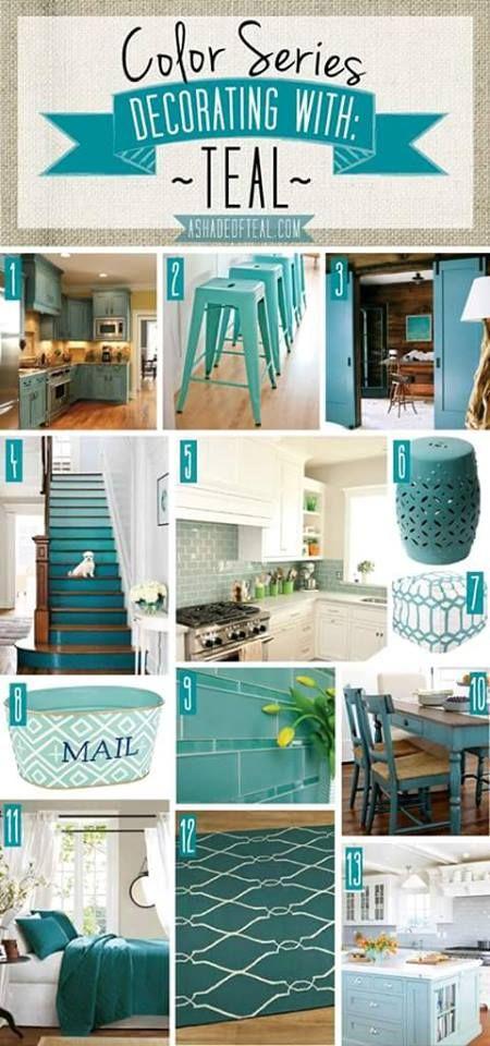 Ideas De Decoracion En Color Turquesa Teal Kitchen Decor Teal Decor House Design