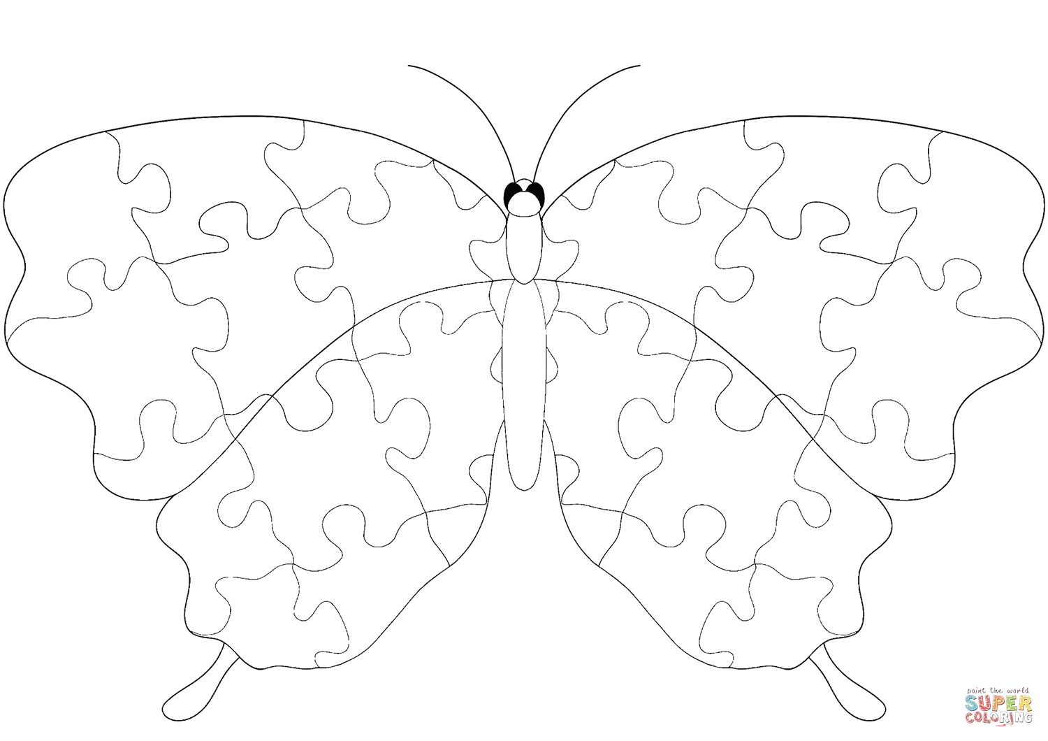 Butterfly With Jigsaw Puzzle Pattern Coloring Page Free Printable Coloring Pages Pattern Coloring Pages Free Printable Coloring Pages Free Printable Coloring [ 1060 x 1500 Pixel ]