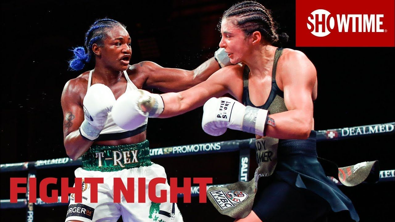 Lol No One Wants To Fight Against Claressa Shields In The Clinch Especially With Hammer S Almost No Movement But Woman S Box In 2020 Claressa Shields Fight Night Mma