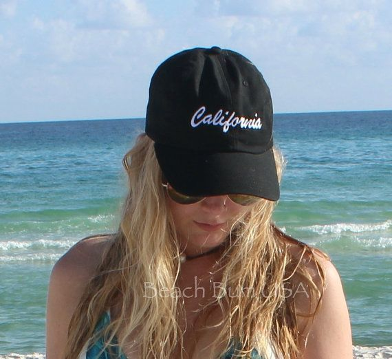 California Baseball Caps Personalized State Custom Embroidery Hat bio washed e8e551309906