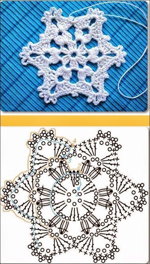 Patrones de dos estrellas para Navidad | Todo crochet | patrones ...
