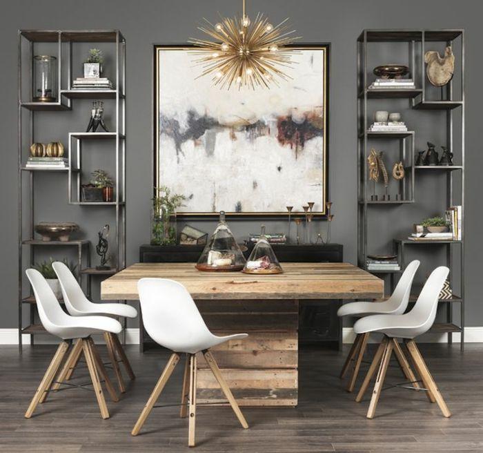 muebles de comedor, comedor en estilo rústico, mesa masiva de madera - muebles en madera modernos