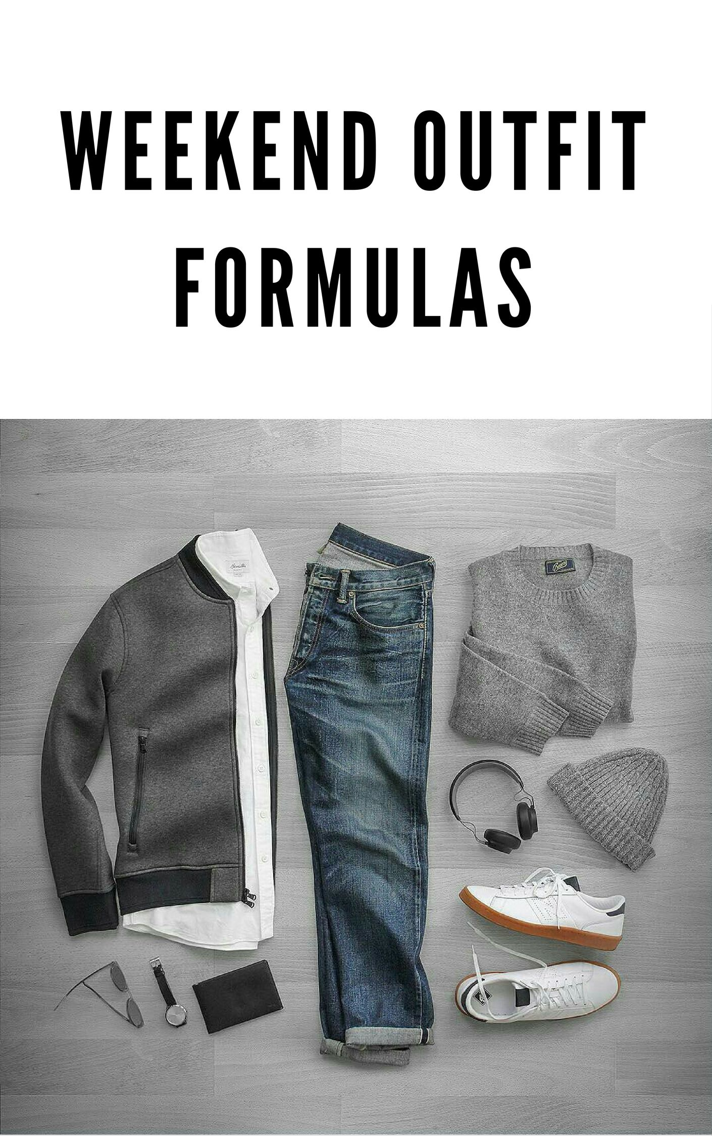 WEEKEND OUTFIT FORMULAS #mens #fashion