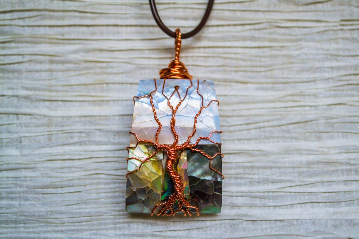 Tree of Life copper wire wrapped Abalone pendant by RecycledBeautifully on Etsy https://www.etsy.com/listing/153019011/tree-of-life-copper-wire-wrapped-abalone