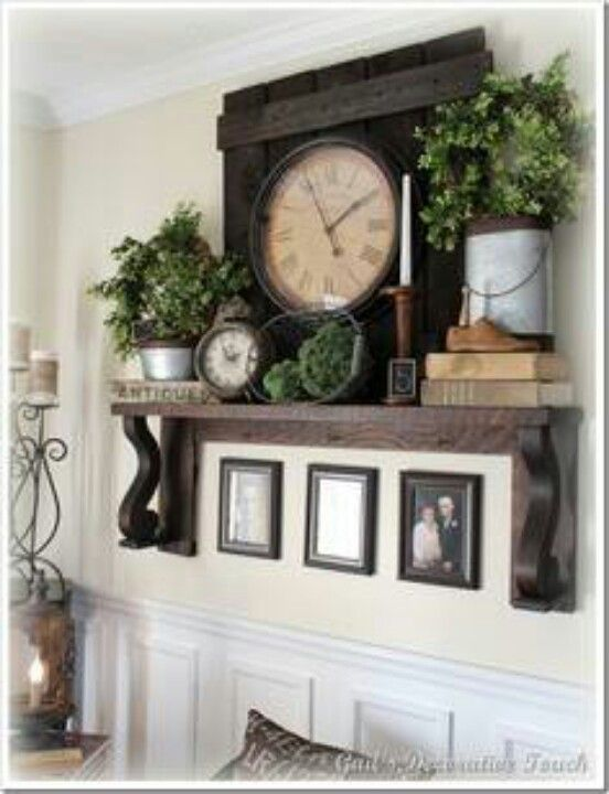 Mantel With No Fireplace