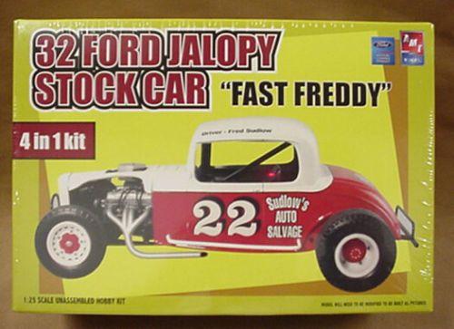 32 Ford Jalopy Stock Car Amt Plastic Model Kit 4 In 1 1932 32