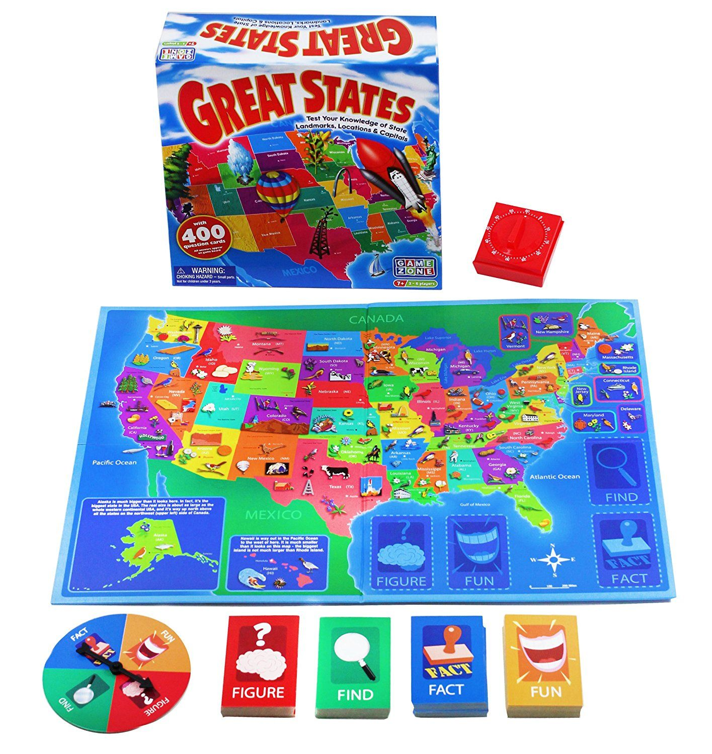 Game Zone Great States Geography Board Game >>> Find out