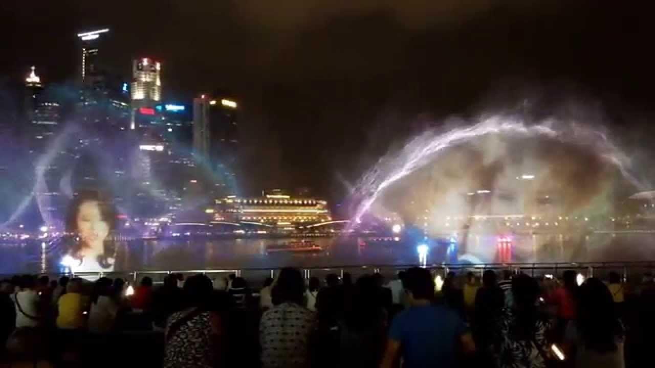 The Light Show Outside Marina Bay Sands Singapore Light Show Singapore Light