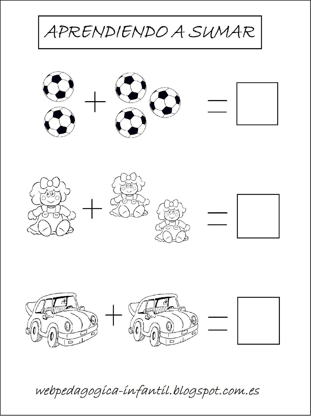 Aprender a sumar es muy divertido con estos dibujos para for Aprendemos jugando jardin infantil