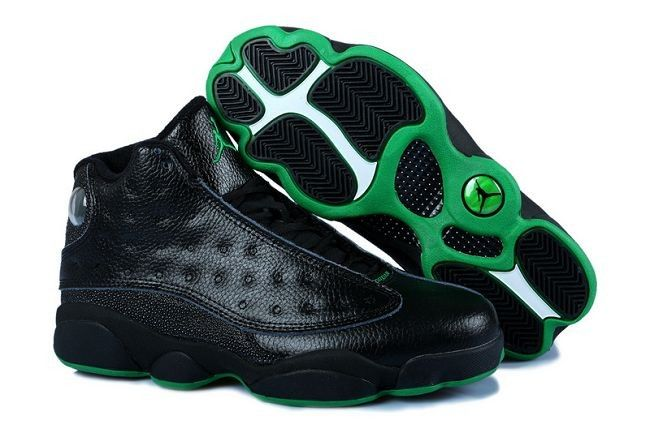 c3c0f12a802 Air Jordan 13 Retro Black Altitude Green (414571-002)