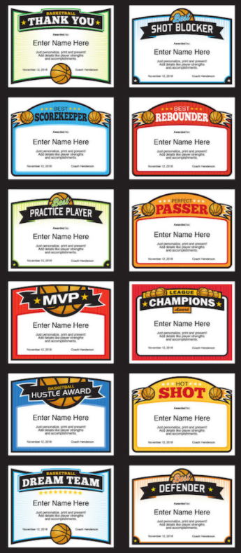 elite basketball award certificate templates basketball quotes
