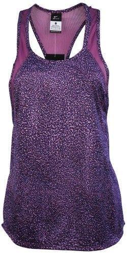 da393e603e7f0 Nike Women s Dri-Fit Printed Crew Running Tank Top-Purple Dusk-Medium