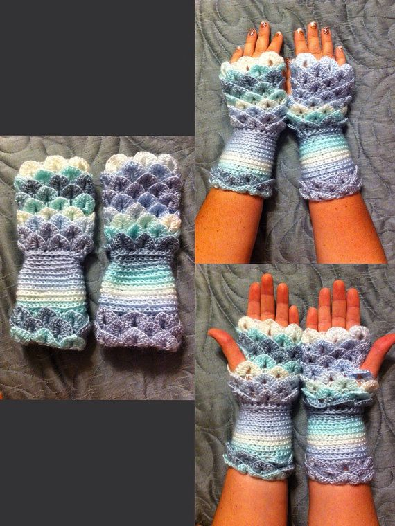 Crocodile stitch fingerless gloves driving gloves texting ...