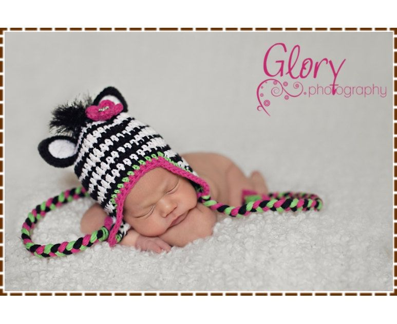 Zebra+Hat+Crochet+Pattern++ZOEY+&+ZANE+Ear+by+EmieGraceCreations,+$ ...