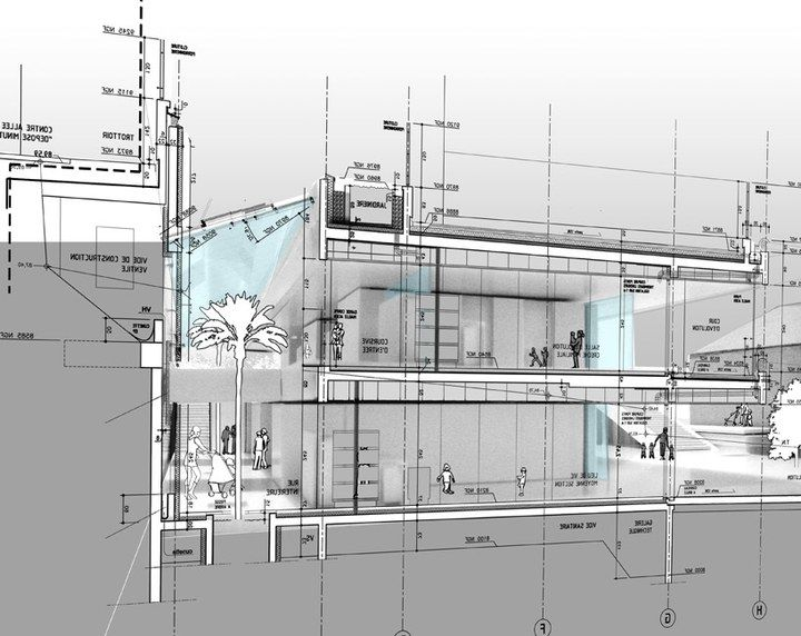 architecture design presentation SECTION Pinterest - Dessiner Plan De Maison