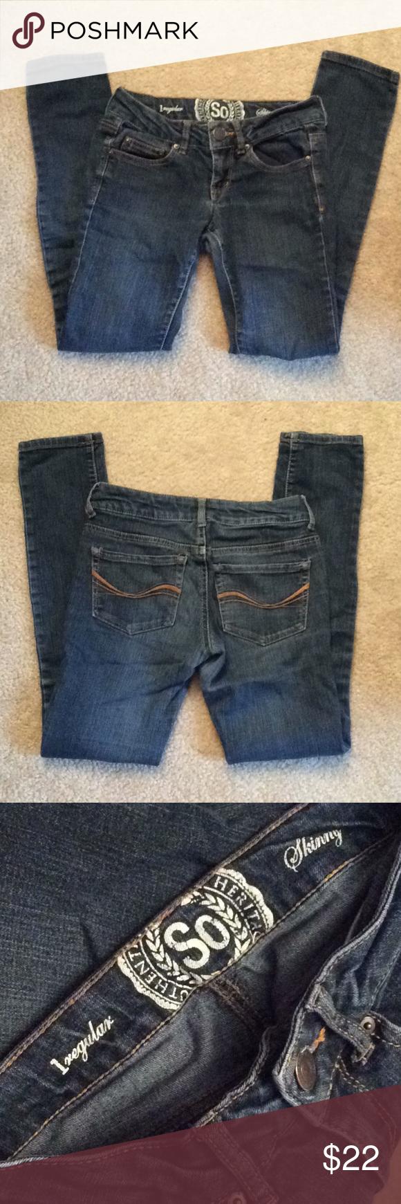 SO skinny 1 regular jeans juniors Jeans dark blue almost black SO Jeans Skinny