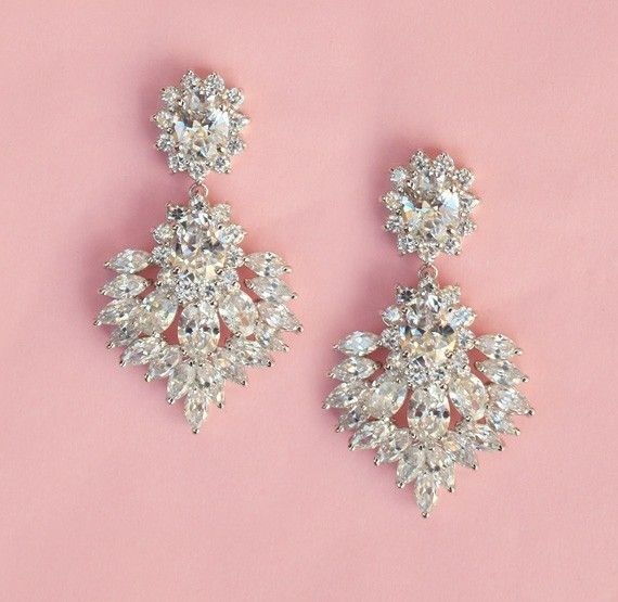 FREE SHIPPING Vintage Inspired Wedding Earrings by spoiledpretty ...