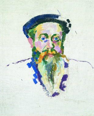 Robert Delaunay / 1907 / Dr Piraz portrait / Oil and wax on canvas / 62 x 51 cm / Thyssen-Bornemisza Museum, Madrid.