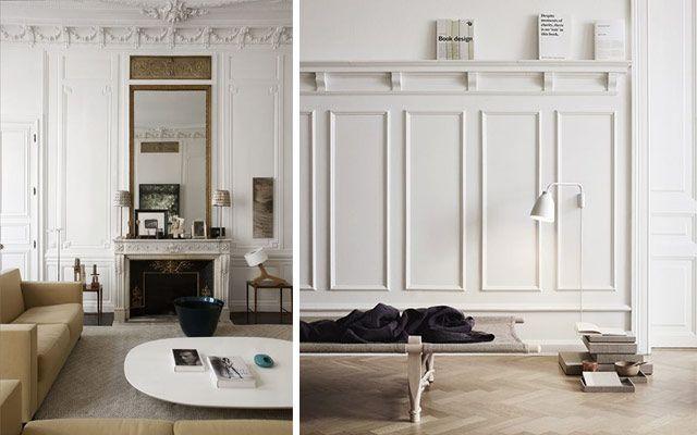 Decofilia blog c mo decorar casas con molduras de pared dior ss16 pinterest molduras - Molduras para paredes ...